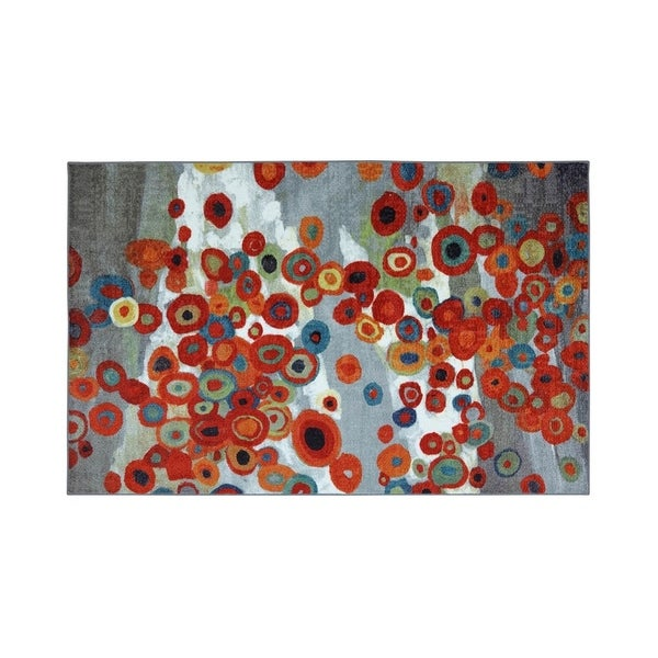 Nylon And Latex Backing Area Rug With Colorful Round Pattern Small Multi 5 X 8 On Free Shipping Today 24115323