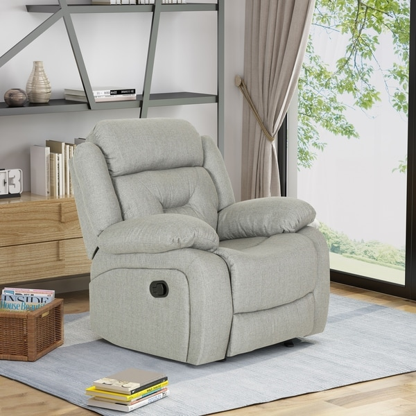Horatius Traditional Overstuffed Glider Recliner with Fabric Upholstery by Christopher Knight Home