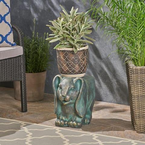 Arturo Light weight Concrete Rabbit Garden Stool by Christopher Knight Home