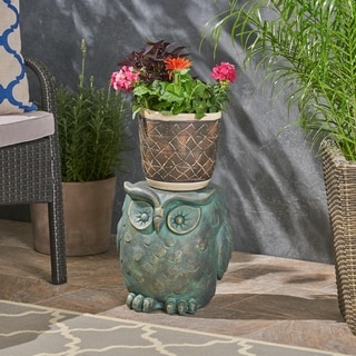 Link to Pratchett Light weight Concrete Owl Garden Stool by Christopher Knight Home Similar Items in Outdoor Decor