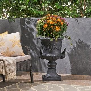 Adonis Roman Botanical Lightweight Concrete Chalice Garden Urn Planter by Christopher Knight Home
