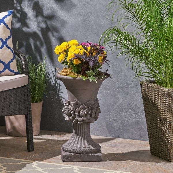 Calliope Antique Botanical Lightweight Concrete Chalice Garden Urn Planter by Christopher Knight Home. Opens flyout.