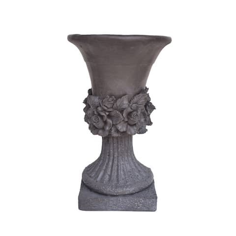 Calliope Antique Botanical Lightweight Concrete Chalice Garden Urn Planter by Christopher Knight Home