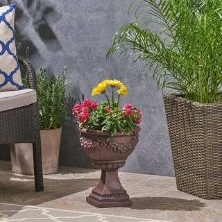 Cassia Roman Botanical Lightweight Concrete Chalice Garden Urn Planter by Christopher Knight Home