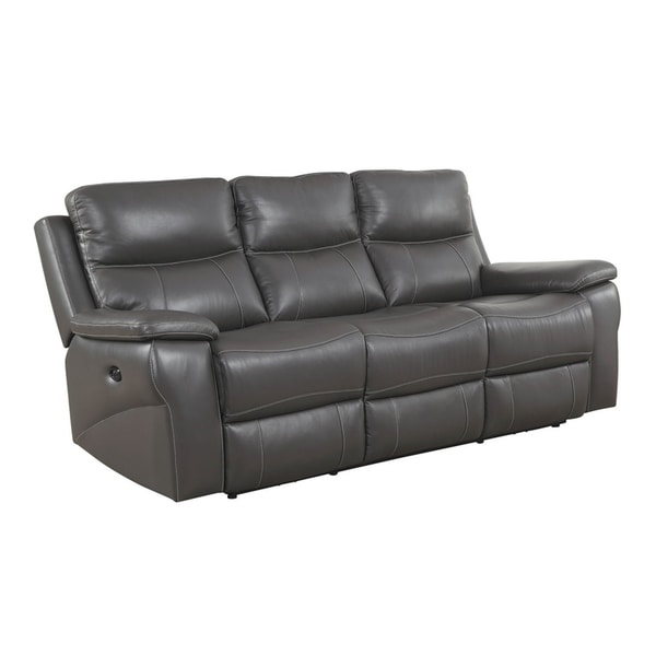 Leather Match Sofa: Shop Top Grain Leather Match Sofa With Power Recliners