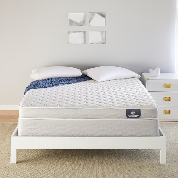 shop serta 5 inch firm foam full size mattress set on sale free shipping today overstock. Black Bedroom Furniture Sets. Home Design Ideas