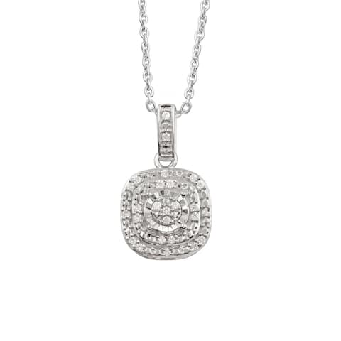 Divina Sterling Silver 1/10ct TDW Diamond Pendant