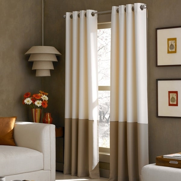 Shop Kendall Colorblock Grommet Curtain Panel Free