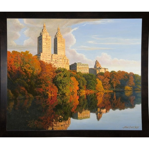 "Autumn In Central Park-JOHZAC83156 Print 26.75""x32.25"" by John Zaccheo"