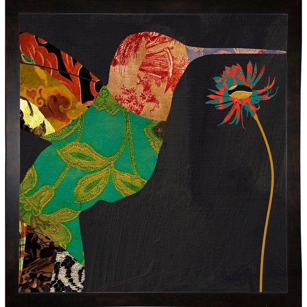 "Hummingbird Brocade IV-COLBAK111193 Print 23""x22"" by Color Bakery"