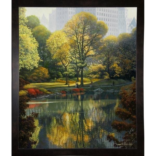 "Reflection Of The Park-JOHZAC83664 Print 25.75""x21.25"" by John Zaccheo"