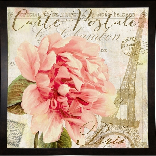 """Bonjour One-COLBAK126817 Print 24""""x24"""" by Color Bakery"""