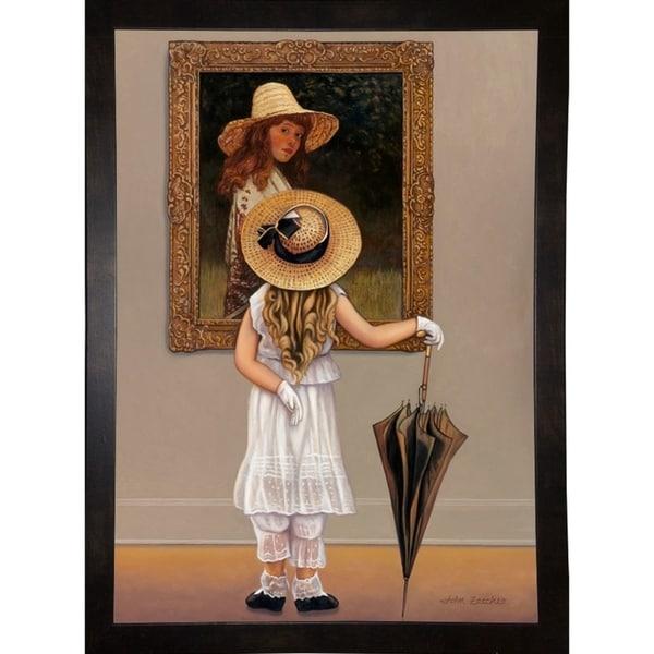 "Girl In Museum-JOHZAC88340 Print 35.5""x25.5"" by John Zaccheo"