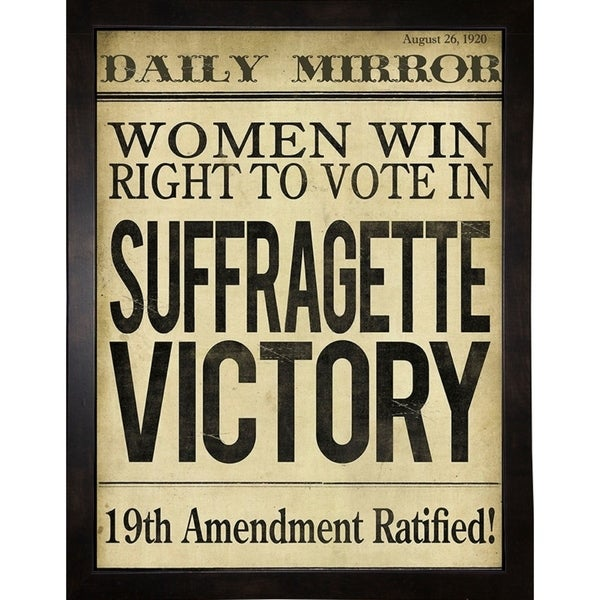 "Women's right to Vote-COLBAK112184 Print 15""x11.25"" by Color Bakery"
