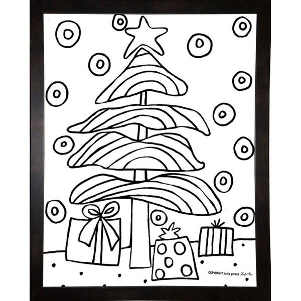 "Christmas Tree-KARGER136611 Print 7.25""x5.5"" by Karla Gerard"