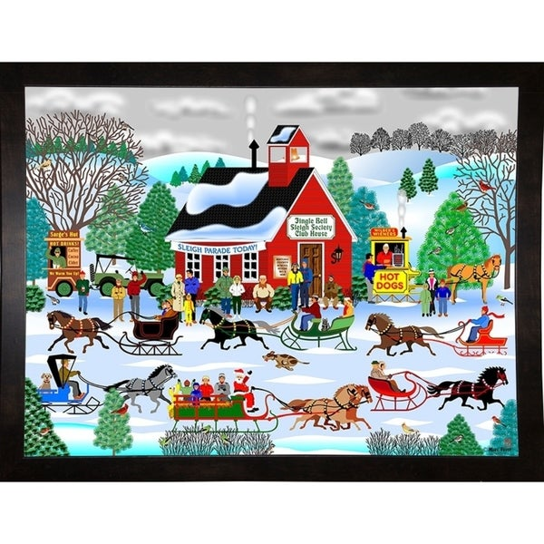 "Jingle Bell Sleigh Society-MARFRO78761 Print 24.5""x32.5"" by Mark Frost"