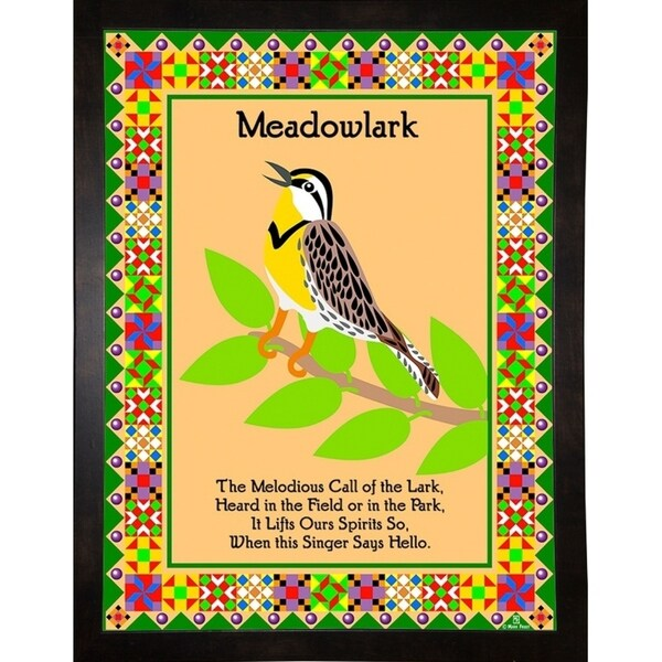 "Meadowlark Quilt-MARFRO73096 Print 32.5""x24.5"" by Mark Frost"