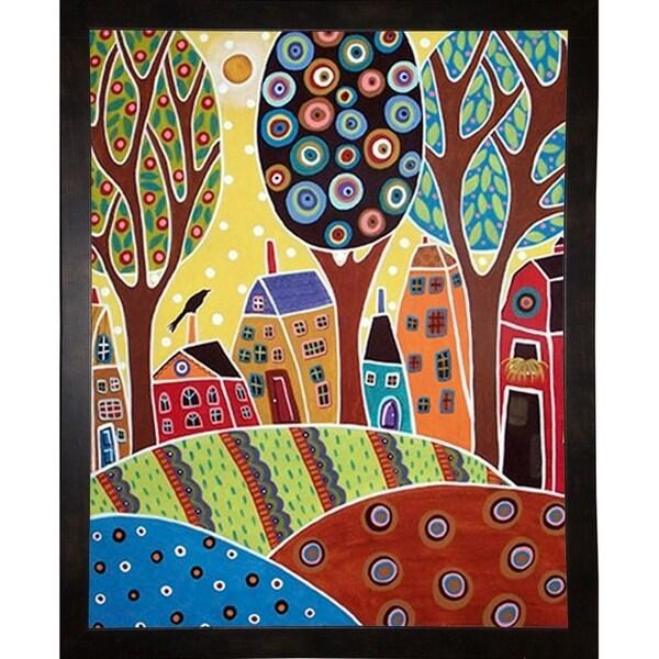 "Houses Barn Landscape-KARGER140222 Print 5.75""x4.5"" by Karla Gerard"