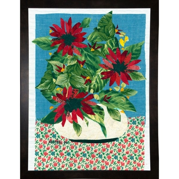 """Red Flowers-KESMIC89504 Print 31.25""""x23.5"""" by Kestrel Michaud"""