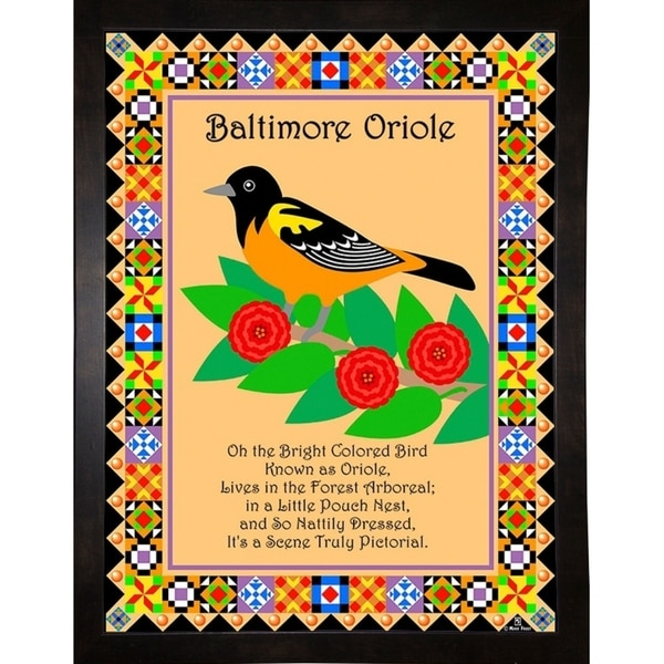 """Baltimore Oriole Quilt-MARFRO73089 Print 32.5""""x24.5"""" by Mark Frost"""