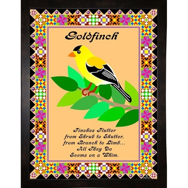 """Goldfinch Quilt-MARFRO73094 Print 32.5""""x24.5"""" by Mark Frost"""