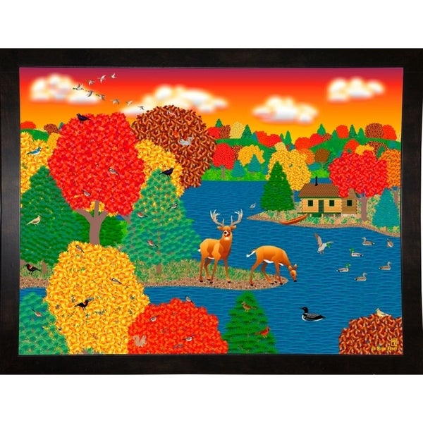 """Deer Lake-MARFRO90039 Print 24.5""""x32.5"""" by Mark Frost"""