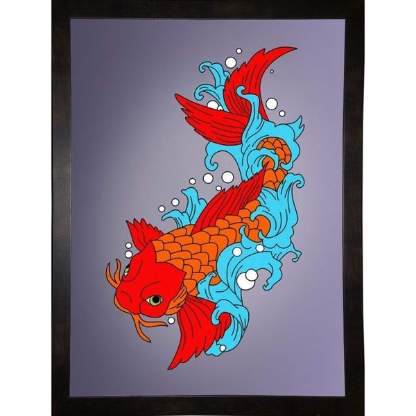 "Koi Fish 4-MARASH141601 Print 32""x23.25"" by Mark Ashkenazi"