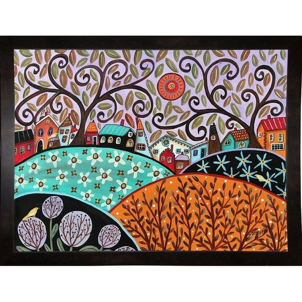 """Small Town III-KARGER138314 Print 8.75""""x12"""" by Karla Gerard"""