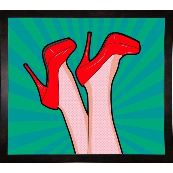 """Woman Legs With A Red Sexy Shoes-MARASH143668 Print 23.25""""x26.75"""" by Mark Ashkenazi"""
