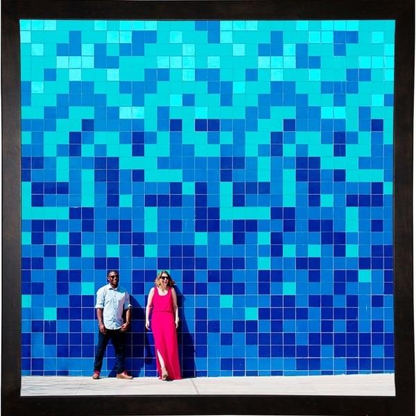 """Blue Lovers-MATCRU140237 Print 11""""x11"""" by Matt Crump"""