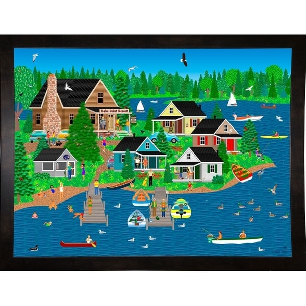 """Lake Point Resort-MARFRO113137 Print 24.5""""x32.5"""" by Mark Frost"""
