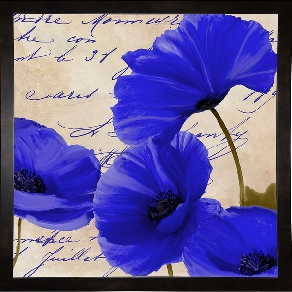 """Coquelicots Bleues I-COLBAK116160 Print 25.75""""x25.75"""" by Color Bakery"""
