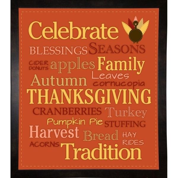 """Celebrate Thanksgiving-MELPAR113030 Print 15""""x13"""" by Melanie Parker"""