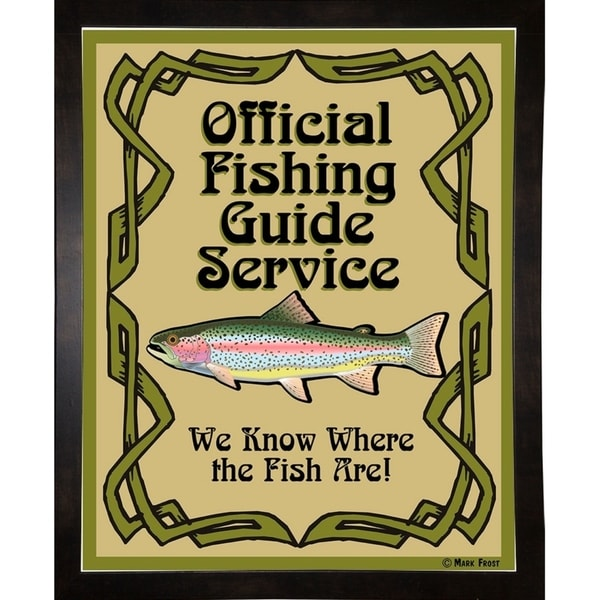 """Official Fishing Guide-MARFRO130429 Print 21.25""""x17"""" by Mark Frost"""