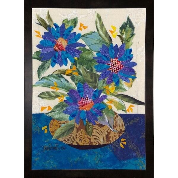 "Blue Flowers-KESMIC89506 Print 33""x23.25"" by Kestrel Michaud"