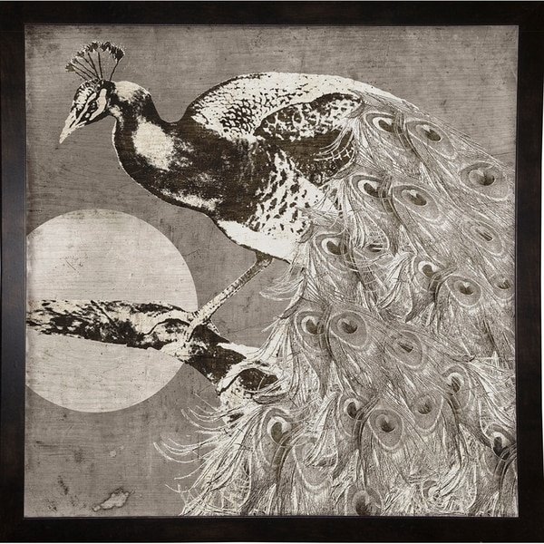 "Moon Peacock-COLBAK118448 Print 18""x18"" by Color Bakery"
