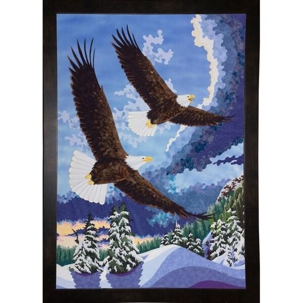 "Soaring Over Cloth Mountain-KESMIC90241 Print 35""x24.25"" by Kestrel Michaud"