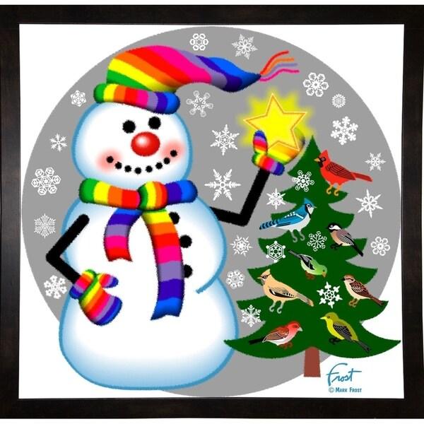 "Snowman Bird Tree-MARFRO130542 Print 23.25""x23.75"" by Mark Frost"