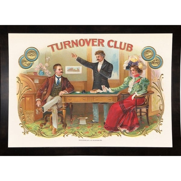 "Turnover Club-ARTCIG63711 Print 14""x20"" by Art of the Cigar"