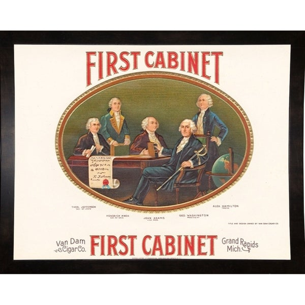 "First Cabinet-ARTCIG63707 Print 21""x26.75"" by Art of the Cigar"