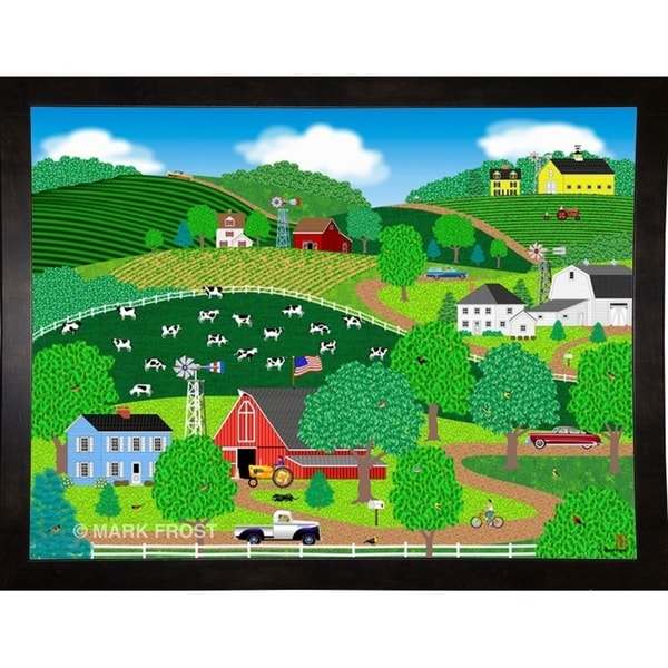"""Farms Of Windy Hills-MARFRO63641 Print 27""""x36"""" by Mark Frost"""