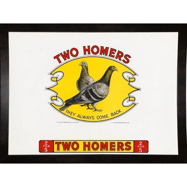 """Two Homers-ARTCIG64610 Print 16.5""""x22.5"""" by Art of the Cigar"""