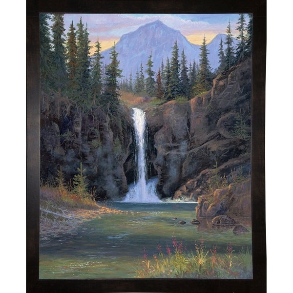 "Running Eagle Falls-ALLJIM98508 Print 35""x28"" by Allen Jimmerson"