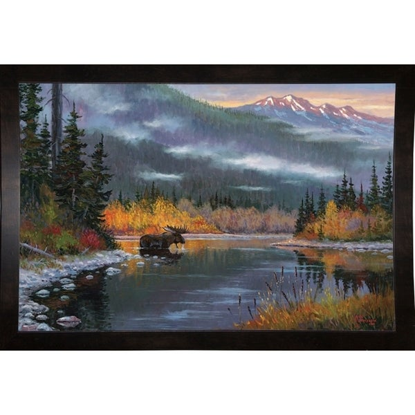"South Fork Moose-ALLJIM105153 Print 24""x36.25"" by Allen Jimmerson"