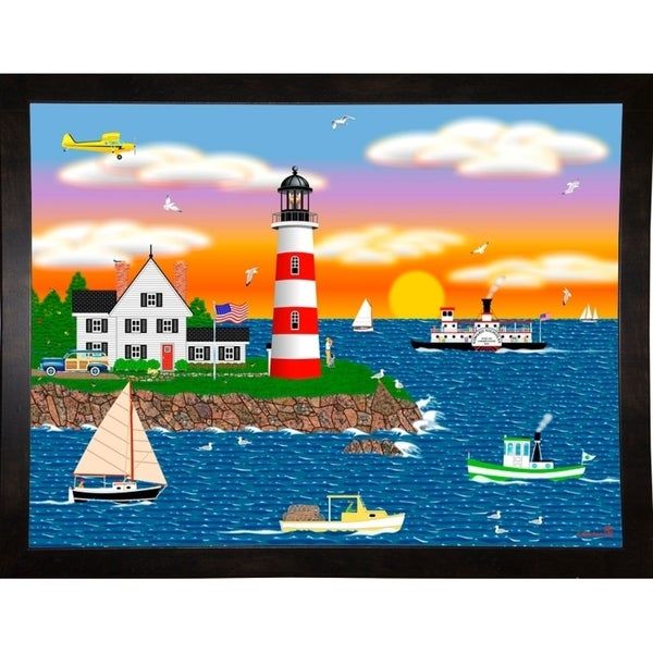 """Triangle Point Lighthouse-MARFRO104936 Print 24.5""""x32.5"""" by Mark Frost"""