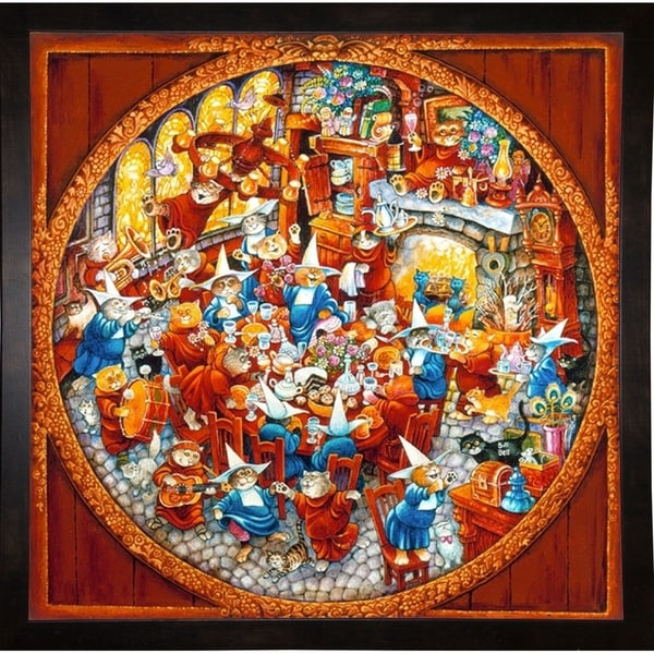 "Holy Cats Sunday Brunch (Pc)-BILBEL3604 Print 36.5""x36.5"" by Bill Bell"
