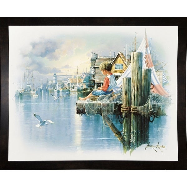 """Fishing Dock B-ANDORP91634 Print 16.5""""x20.5"""" by Andres Orpinas"""