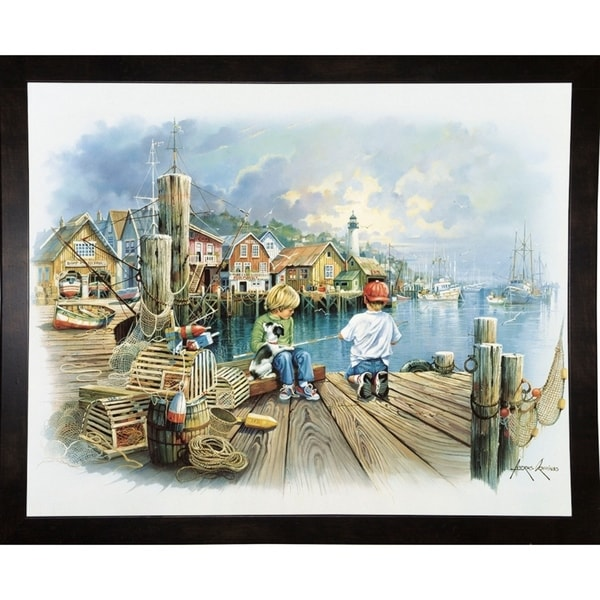 """Fishing Dock C-ANDORP91635 Print 16.5""""x20.5"""" by Andres Orpinas"""