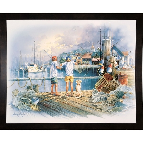 "Fishing Dock A-ANDORP91633 Print 16.5""x20.5"" by Andres Orpinas"