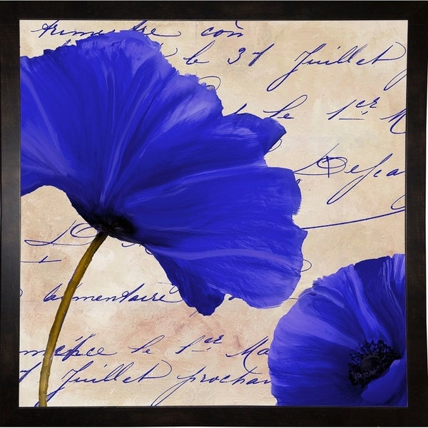 """Coquelicots Bleues II-COLBAK116161 Print 25.75""""x25.75"""" by Color Bakery"""